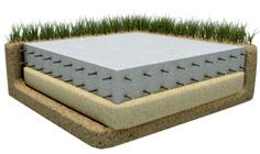 Плитный монолитный ж/б фундамент